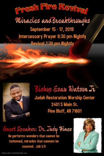 Fresh Fire Revival with Dr. Judy Hines