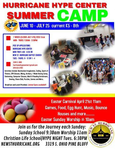 New St. Hurricane HYPE Center Summer Camp 2019