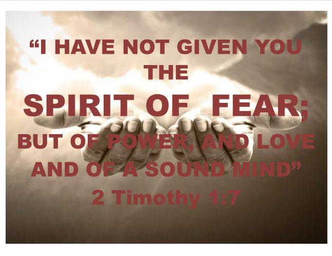 No Spirit of Fear Flyer